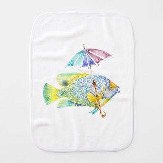 Fralda De Boca Peixes do anjo com guarda-chuva