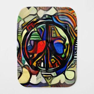 Fralda De Boca Símbolo de paz colorido