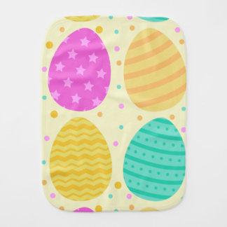 Fralda De Boca Teste padrão colorido bonito dos ovos da páscoa