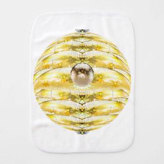 Fralda De Boca Teste padrão da colmeia da abelha da bola do disco