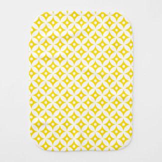 Fralda De Boca Teste padrão de bolinhas amarelo e branco moderno