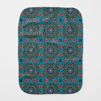 Fralda De Boca Teste padrão floral étnico abstrato colorido da