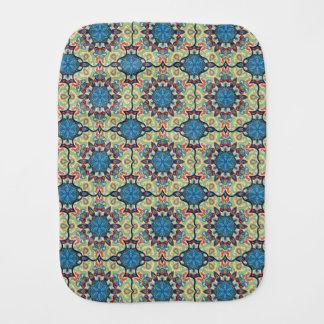 Fralda De Boca Teste padrão floral étnico abstrato colorido de da