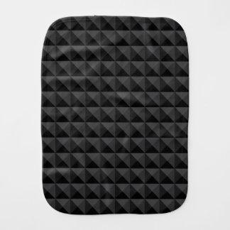 Fralda De Boca Teste padrão geométrico moderno do quadrado preto