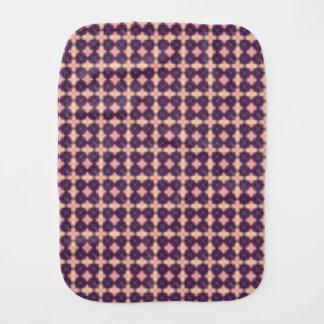 Fralda De Boca Teste padrão roxo do caleidoscópio