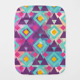 Fralda De Boca Teste padrão vibrante colorido do batik do boho da