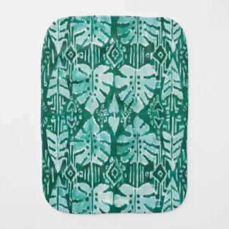 Fralda De Boca Tropical tribal verde havaiano da SELVA IKAT