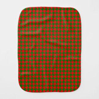 Fralda De Boca Verificação vermelha e verde do Natal clássico de