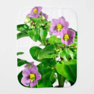 Fralda De Boca Violetas persas