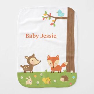 Fraldinha De Boca Animal bonito da floresta da floresta para bebês