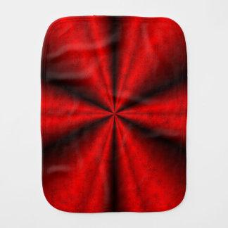Fraldinha De Boca Arco-íris preto vermelho no leatheroptik de