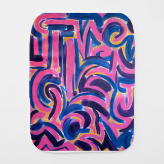 Fraldinha De Boca Arte abstracta pintada Grafite-Mão do grego