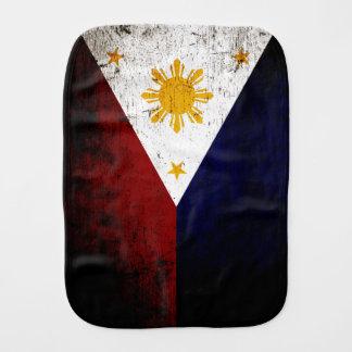 Fraldinha De Boca Bandeira preta de Filipinas do Grunge