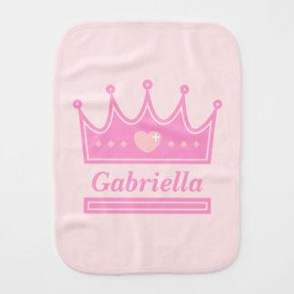 Fraldinha De Boca Coroa cor-de-rosa para a princesa real, bebés