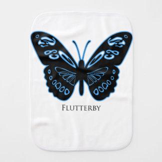 Fraldinha De Boca Fulgor azul preto de Flutterby