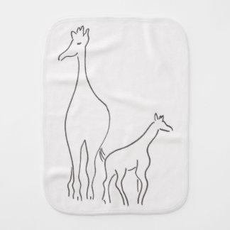 Fraldinha De Boca Girafas - mamães e bebê - pano do Burp
