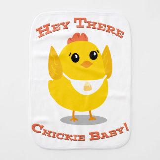 Fraldinha De Boca Hey lá bebê de Chickie - pano do Burp