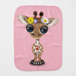 Fraldinha De Boca Hippie bonito do girafa do bebê