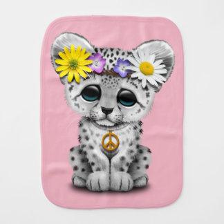 Fraldinha De Boca Leopardo de neve bonito Cub do Hippie