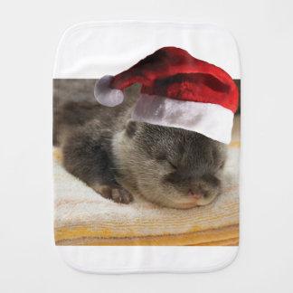 Fraldinha De Boca Lontra sonolento do Natal