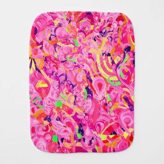Fraldinha De Boca O abstrato colorido bonito roda pintura