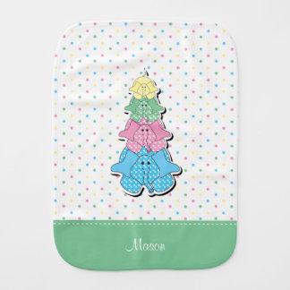 Fraldinha De Boca O Pastel pontilha o elefante verde do bebê
