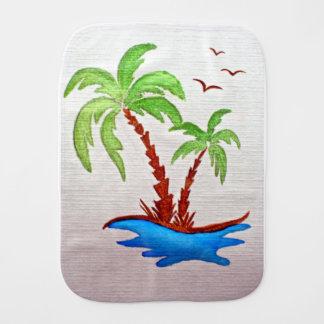 Fraldinha De Boca Pano do Burp com árvores de palma
