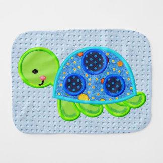 Fraldinha De Boca Pano do Burp do bebê do divertimento da tartaruga