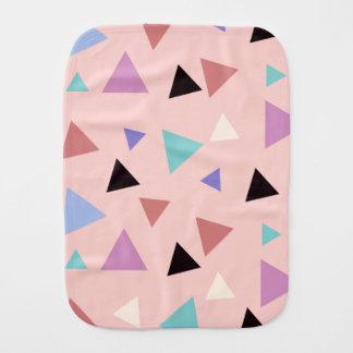 Fraldinha De Boca Preto roxo da hortelã do rosa geométrico elegante