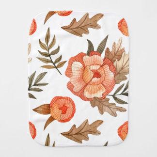 Fraldinha De Boca Teste padrão de flor tirado do batik do outono mão