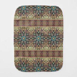 Fraldinha De Boca Teste padrão floral étnico abstrato colorido da