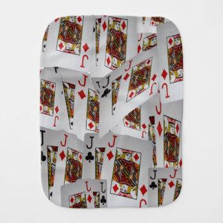 Fraldinha De Boca Teste padrão mergulhado cartões do póquer dos