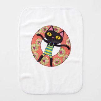 Fraldinha De Boca Tubulação do gato preto