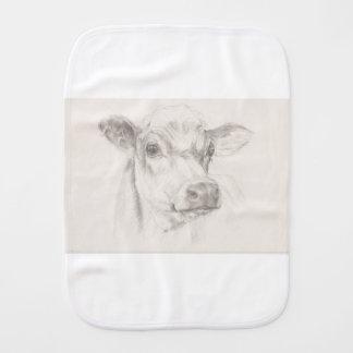Fraldinha De Boca Um desenho de uma vaca nova