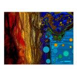 Fram - arte abstracta cartão postal