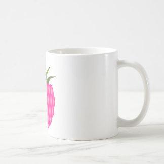 Framboesa ou apenas baga cor-de-rosa caneca