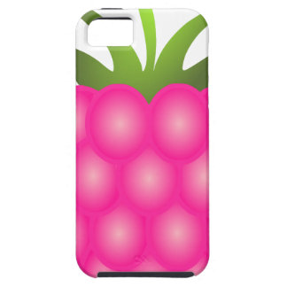 Framboesa ou apenas baga cor-de-rosa capa tough para iPhone 5