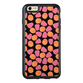 Framboesas cor-de-rosa e tangerinas alaranjadas no