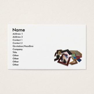 FramingDecisionCard, nome, endereço 1, endereço 2… Cartão De Visitas