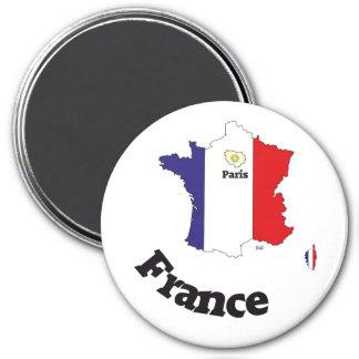 França France cia de fra íman Ímã Redondo 7.62cm
