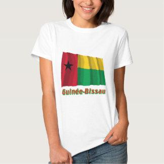 Français de Drapeau Guinée-Bissau avec le nom en Tshirts