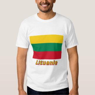 Français de Drapeau Lituanie avec le nom en Camiseta