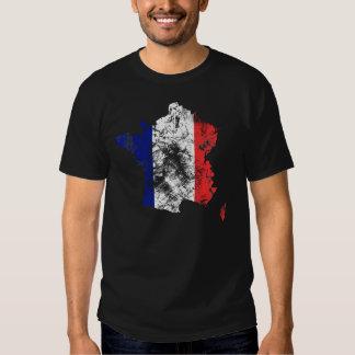 France afligiu a camisa camisetas