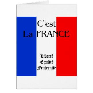 France Cartão Comemorativo
