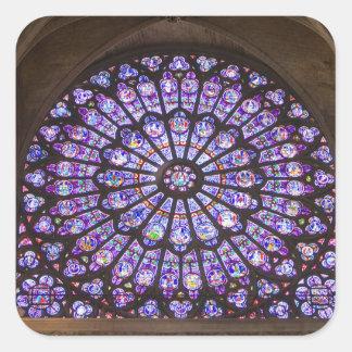France, Paris. Detalhe interior de vitral Adesivo Em Forma Quadrada