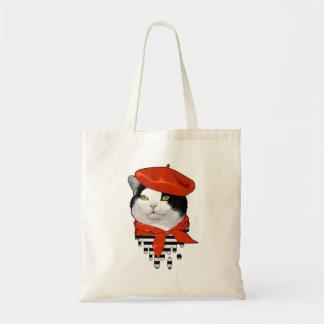francês do gato sacola tote budget