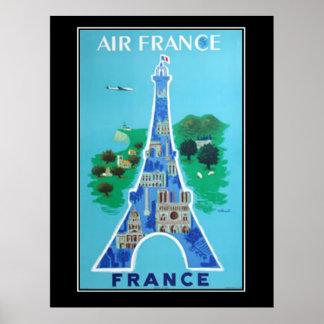 Francês do poster vintage do viagem de France Pari