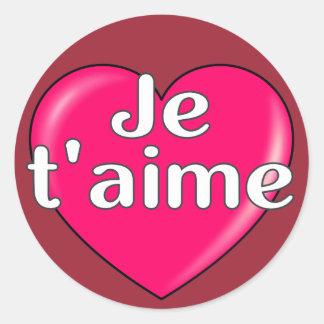 Francês - eu te amo adesivo