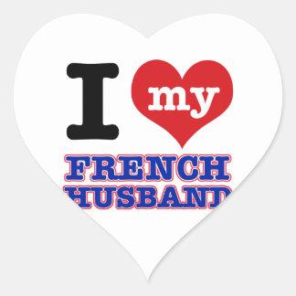Francês mim design do coração adesivo coração