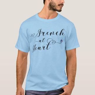 Francês na camiseta do coração, France